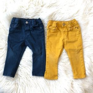 Pair of H&M Stretch Cotton Twill Skinny Fit Pants